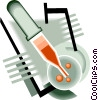 laboratory tools, eyedropper Vector Clip Art picture