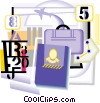 International travel with passport Vector Clip Art picture