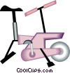 Vector Clip Art image  of a exercise bicycle