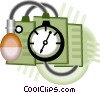 Vector Clip Art graphic  of a blood pressure gauge