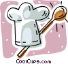Vector Clipart image  of a chef's hat and spoon
