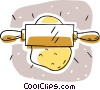 rolling pin with dough Vector Clipart picture