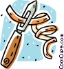 Vector Clip Art graphic  of a potato peeler