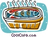 Vector Clip Art graphic  of a clay fish pot