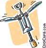Vector Clip Art graphic  of a corkscrew
