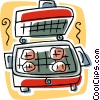 Vector Clipart illustration  of a grill