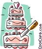 Vector Clipart image  of a Wedding cake