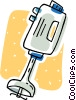 Vector Clip Art picture  of a hand blender