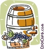 wine barrel Vector Clip Art picture