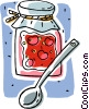 preserves, cherry jelly Vector Clipart image