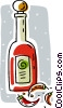 Vector Clip Art picture  of a hot pepper sauce
