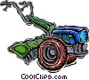 Vector Clipart graphic  of a rotor tiller