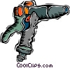 Vector Clip Art graphic  of a drill