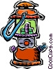 Vector Clip Art graphic  of a kerosene lantern