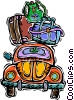 Vector Clipart illustration  of a car