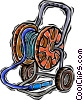 garden hose, hose caddy Vector Clip Art picture