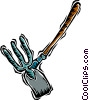 shovel, rake Vector Clip Art picture