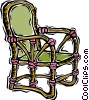 Vector Clipart graphic  of a deck chair