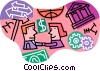 Vector Clipart image  of a financial lending and