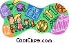Vector Clip Art graphic  of a family finances