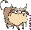 Vector Clip Art image  of a cow