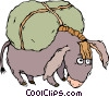 Vector Clipart illustration  of a donkey