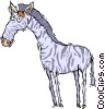 zebra Vector Clipart graphic