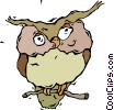 Vector Clip Art picture  of a owl