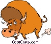 buffalo, bison Vector Clipart illustration