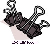 Paper clip, stationary Vector Clipart graphic