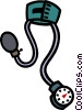blood pressure gauge Vector Clipart image