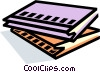 notebooks, stationary, notepads Vector Clip Art image