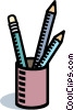 pencil holder, pencils Vector Clipart picture