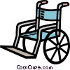 medical, home health care, wheel chair Vector Clipart graphic