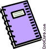notepad, notebook, stationary Vector Clipart image
