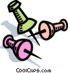 Thumb tack, tacks Vector Clip Art picture