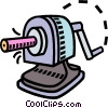 pencil sharpener, stationary Vector Clip Art image
