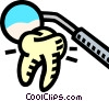 Dentistry, tooth, check-up Vector Clip Art picture