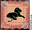 Vector Clipart picture  of a lion