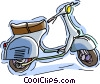 motor scooter Vector Clipart graphic