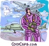 Vector Clipart illustration  of a Pilot