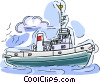 Vector Clip Art graphic  of a Coast guard ship