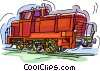 Vector Clip Art image  of a locomotive