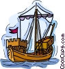 Vector Clip Art picture  of a Sailing ship