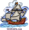 sailing ship, boat Vector Clip Art graphic