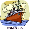 Ocean liner, ship Vector Clipart picture