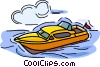Vector Clip Art image  of a Leisure boat
