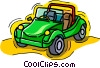 dune buggy, car, automobile Vector Clip Art image