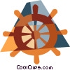 Vector Clipart graphic  of a helmsman's wheel