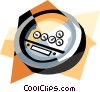 instrument cluster Vector Clipart illustration